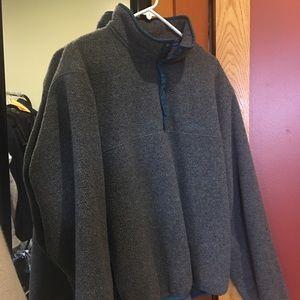 LL Bean 3/4 Button Up Sweatshirt